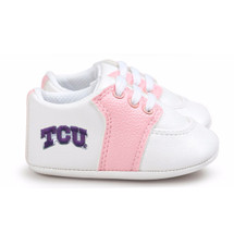 Texas Christian TCU Horned Frogs Pre-Walker Baby Shoes - Pink Trim