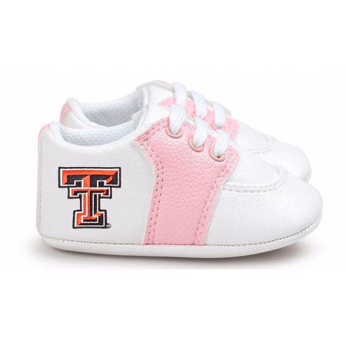 Texas Tech Red Raiders Pre-Walker Baby Shoes - Pink Trim