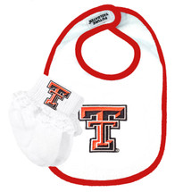 Texas Tech Red Raiders Baby Bib and Socks with Lace Set