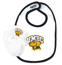 UMBC Retrievers Baby Bib and Socks with Lace Set