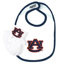 Auburn Tigers Baby Bib and Socks with Lace Set