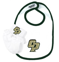 Cal Poly Mustangs Baby Bib and Socks with Lace Set