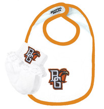 Bowling Green St. Falcons Baby Bib and Socks with Lace Set