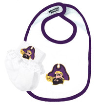 East Carolina Pirates Baby Bib and Socks with Lace Set
