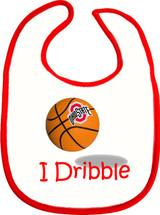 Ohio State Buckeyes I Dribble 2 Ply Baby Bib