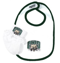 Ohio Bobcats Baby Bib and Socks with Lace Set