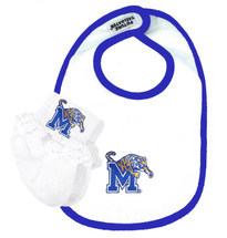 Memphis Tigers Baby Bib and Socks with Lace Set