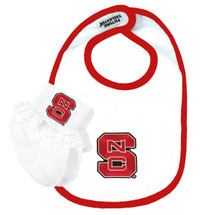 Copy of NC State Wolfpack Baby Bib and Socks with Lace Set