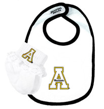 Appalachian State Mountaineers Bib and Socks with Lace Baby Set