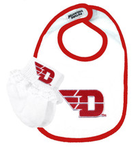 Dayton Flyers Bib and Socks with Lace Baby Set