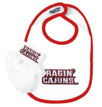 Louisiana Ragin Cajuns Bib and Socks Baby Set