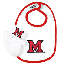 Miami RedHawks Bib and Socks Baby Set