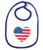 American Heart OHT Baby Bib - Blue