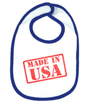 Made In USA OHT Baby Bib - Blue