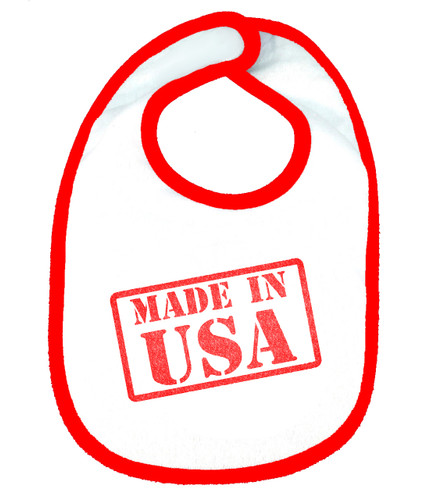 Made In USA OHT Baby Bib - Red