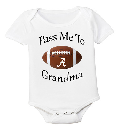 Alabama Crimson Tide Pass Me To Grandma Baby Bodysuit