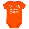 Clemson Tigers Go Tigers! Baby Bodysuit - Orange