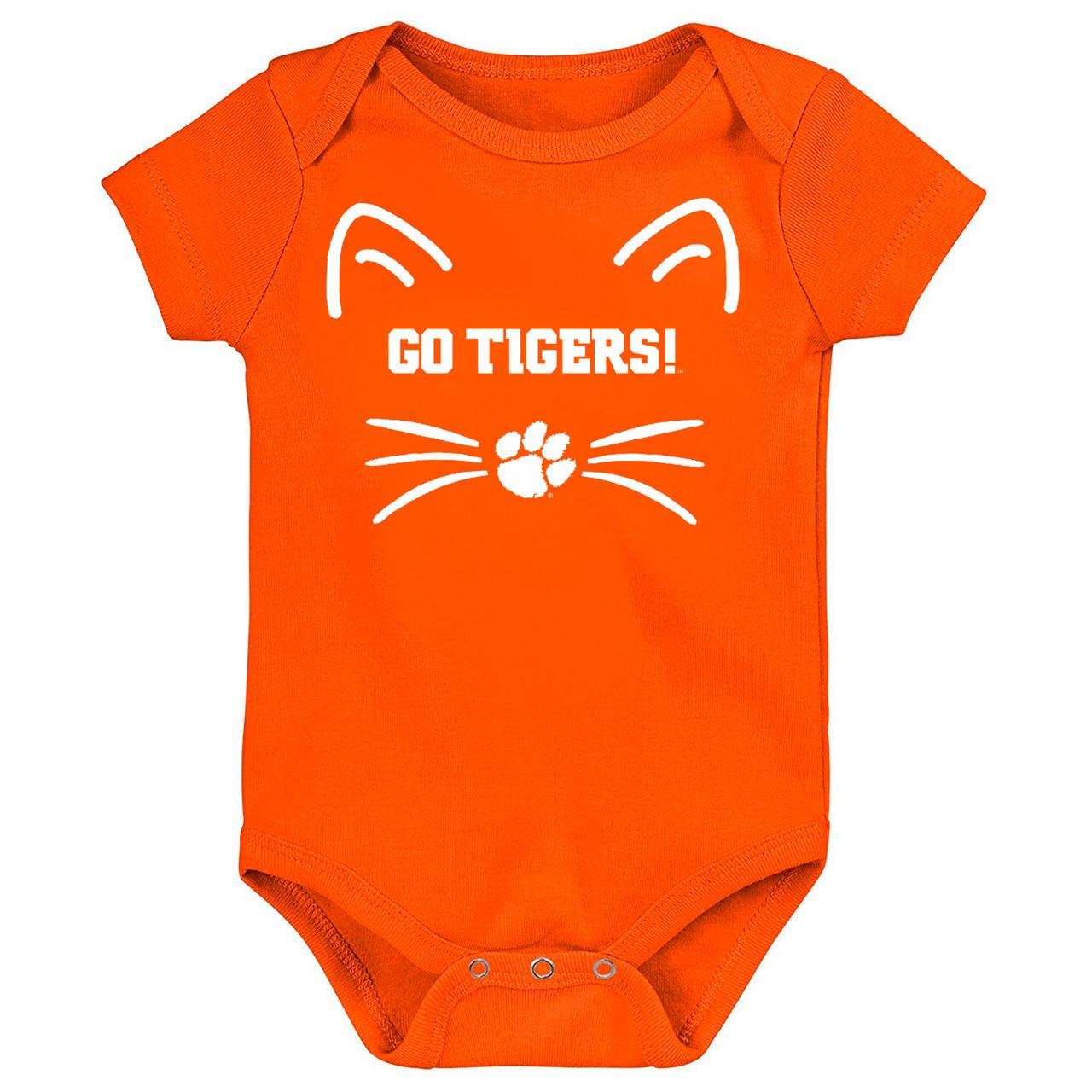 d6aab0b9c Clemson Tigers Go Tigers! Baby Bodysuit - Orange. Loading zoom