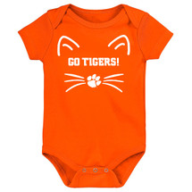 Clemson Tigers Go Tigers! Baby Bodysuit - Orange
