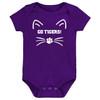 Clemson Tigers Go Tigers! Baby Bodysuit - Purple