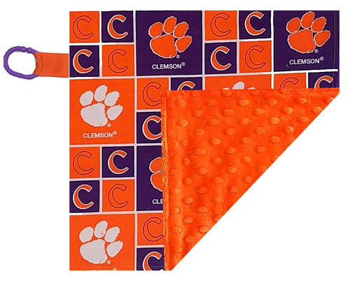 Clemson Tigers Baby/Toddler Minky Lovey