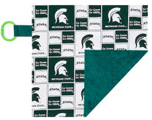 Michigan State Spartans Baby/Toddler Minky Lovey