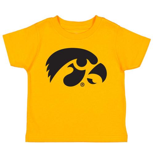 Iowa Hawkeyes LOGO Baby/Toddler T-Shirt - Gold