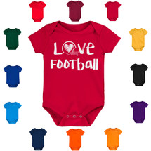 Love Football Baby Bodysuit