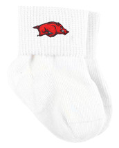 Arkansas Razorbacks Baby Sock Booties