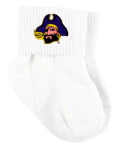 East Carolina Pirates Baby Sock Booties