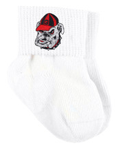 Georgia Bulldogs Baby Sock Booties