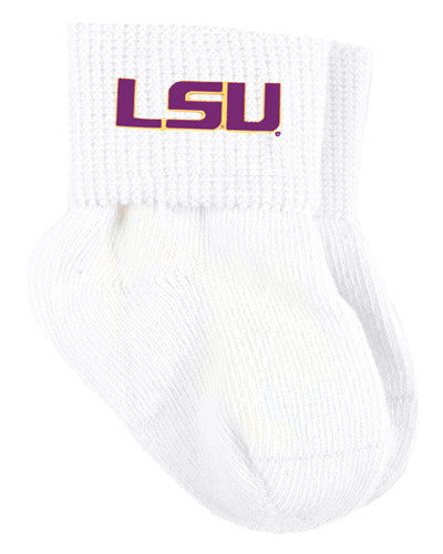 LSU Tigers Baby Sock Booties