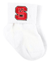 NC State Wolfpack Baby Sock Booties