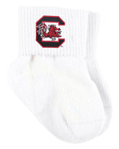 South Carolina Gamecocks Baby Sock Booties