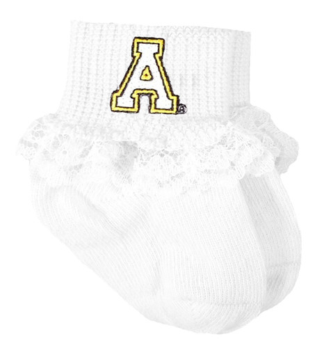 Appalachian State Mountaineers Baby Laced Sock Booties