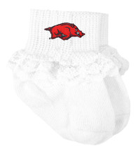 Arkansas Razorbacks Baby Laced Sock Booties