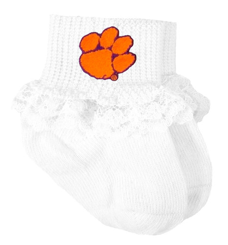 Clemson Tigers Baby Laced Sock Booties