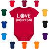 Love Basketball Baby Bodysuit