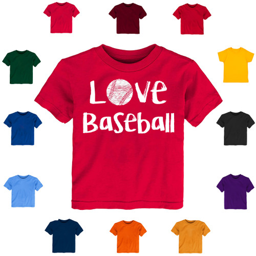 Love Baseball Baby-Toddler T-Shirt