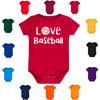 Love Baseball Baby Bodysuit