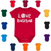 Love Baseball Baby Bodysuit