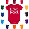 Love Soccer Baby Bodysuit