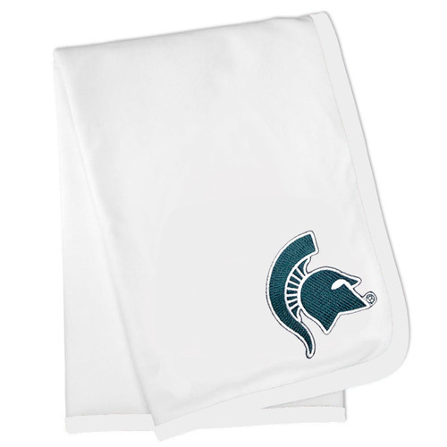 Michigan State Spartans Baby Receiving Blanket