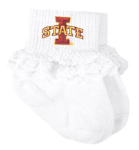 Iowa State Cyclones Baby Laced Sock Booties