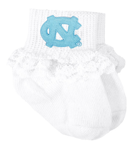 North Carolina Tar Heels Baby Laced Sock Booties