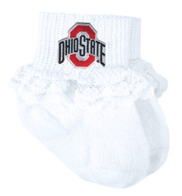 Ohio State Buckeyes Baby Laced Sock Booties