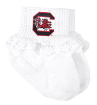 South Carolina Gamecocks Baby Laced Sock Booties