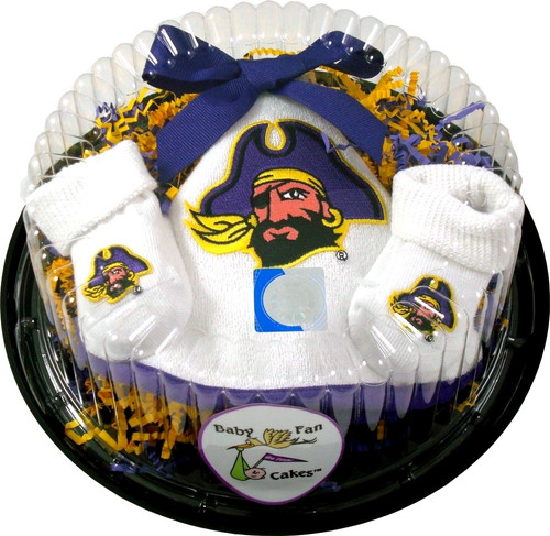 East Carolina Pirates Piece of Cake Baby Gift Set