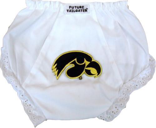 Iowa Hawkeyes Eyelet Baby Diaper Cover