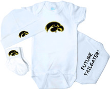 Iowa Hawkeyes Homecoming 3 Piece Baby Gift Set